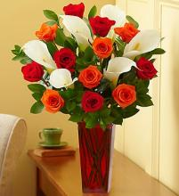 Fall Rose and Calla Lily Bouquet