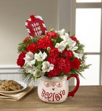 The FTD Believe Mug Bouquet by Hallmark