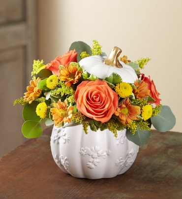 Embossed white pumpkin- Designers choice