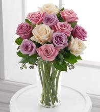 The Long Stem Pastel Rose Bouquet