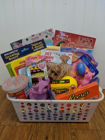 Play and Puzzles Basket - Girl