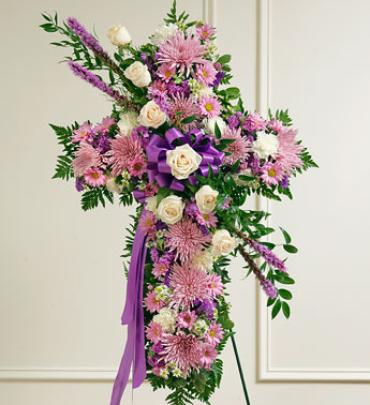 Peace and Prayers Standing Cross - Lavender